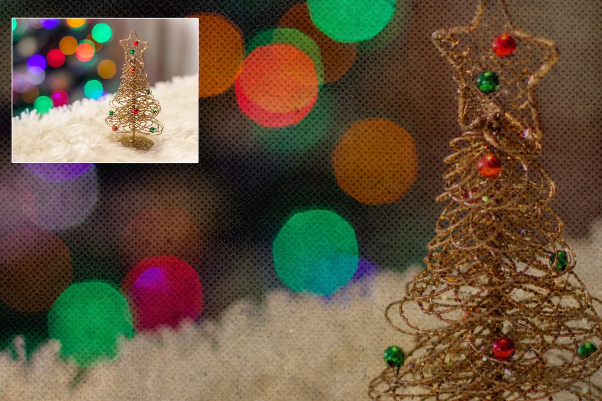 Retro Christmas EFFECTS & BRUSHES PS in Add-Ons - product preview 10