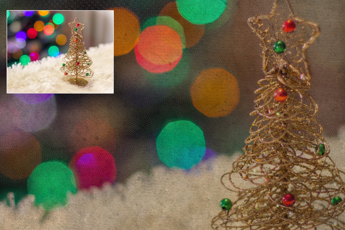 Retro Christmas EFFECTS & BRUSHES PS in Add-Ons - product preview 11