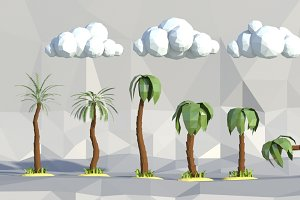 low poly Palm