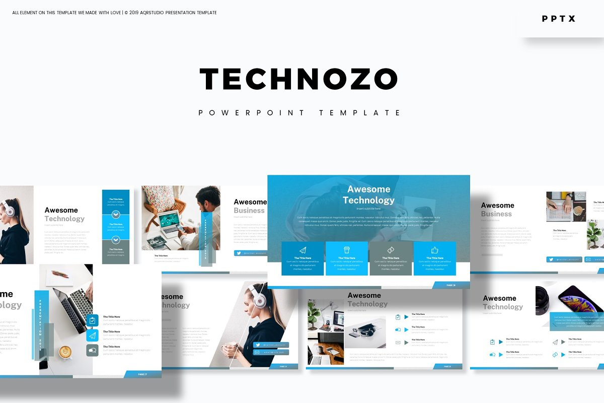 Technozo - Powerpoint Template