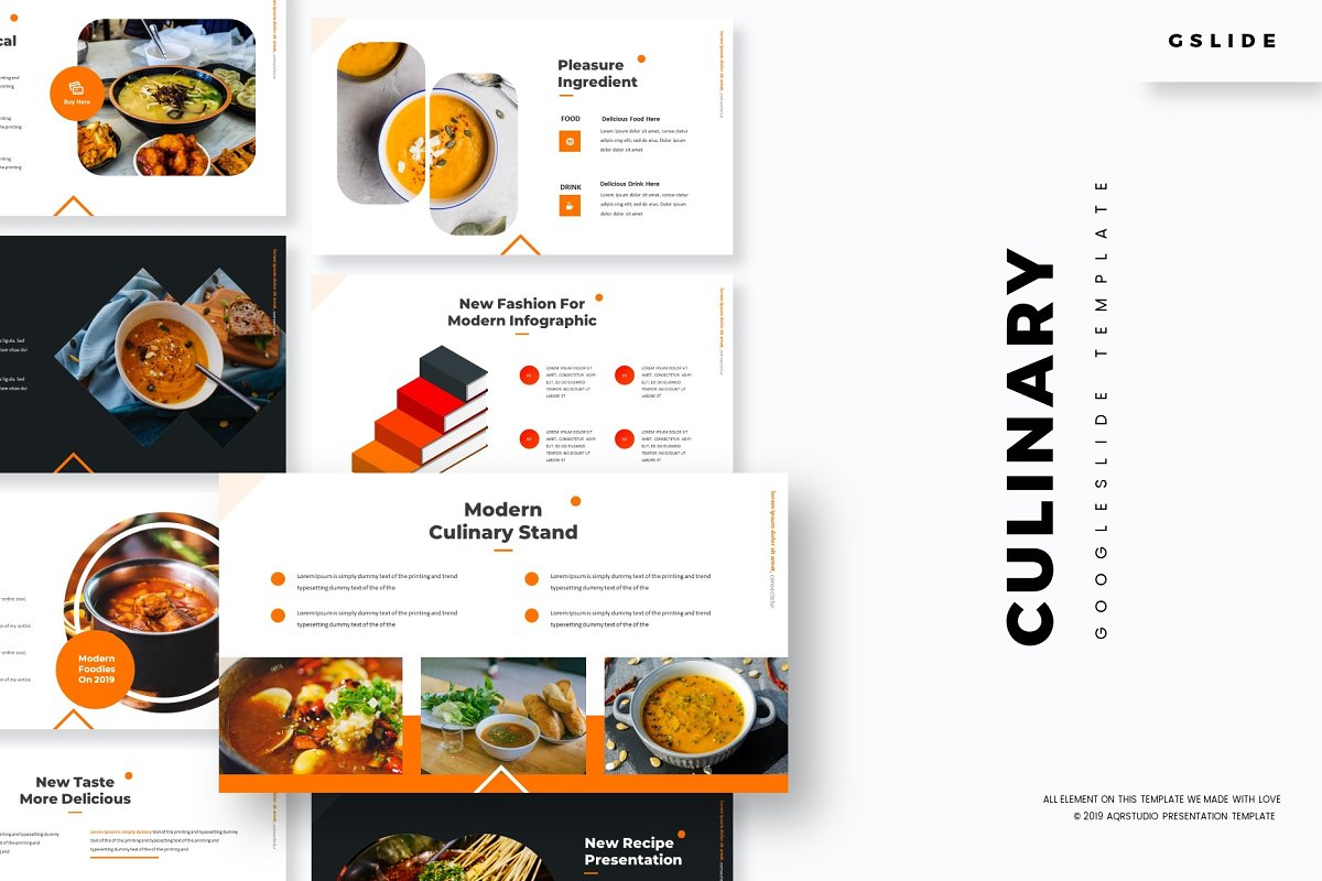 Culinary - Google Slides Template