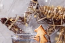 Shortbread Christmas cookies for cup