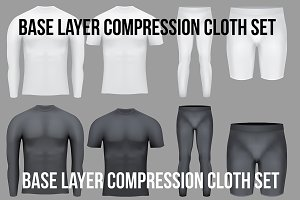 Base layer compression cloth set