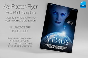 A3 - Movie Poster Print Template 4