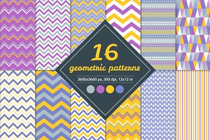 16 Vector Seamless Patterns (set 1)