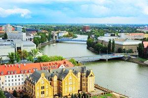 Wroclaw skyline, Poland