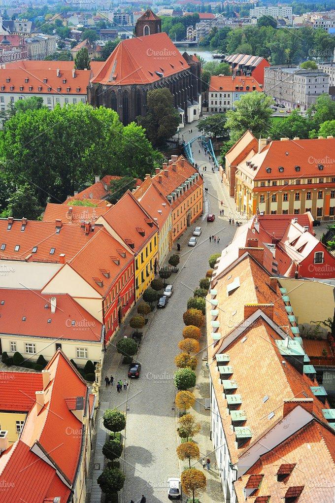 Wroclaw street. Poland - Architecture