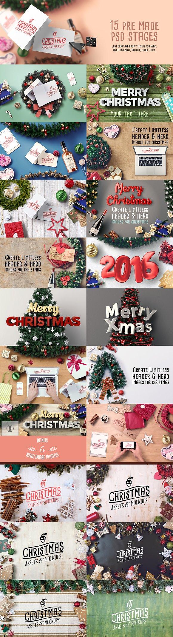 Christmas Assets & Mock Ups ~ Product Mockups ~ Creative Market