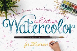 NEW! Watercolor Collection in Vector