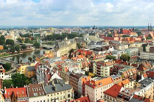View on Wroclaw from Cathedral