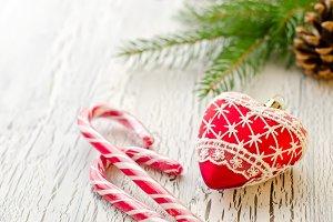 Christmas decoraion greeting card