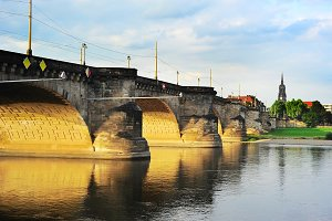 The Augustus Bridge.Dresden, Germany