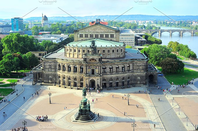 Semper Opera House. Dresden,Germany - Architecture
