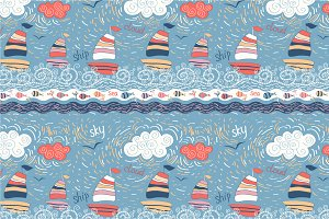 "Seamless pattern ""Sea"""