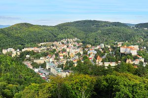 Aerial view on Karlovy Vary