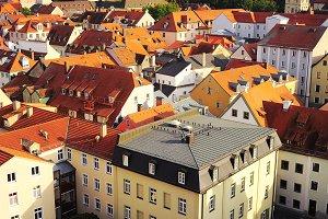 Aerial view on Regensburg, Germany