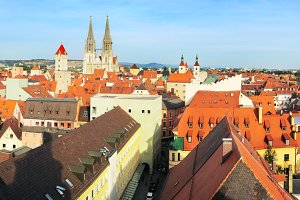 Old Town of Regensburg view