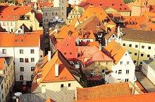 Regensburg city center view
