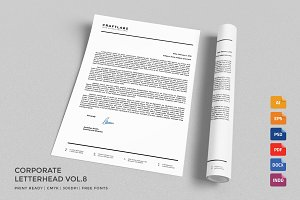 Corporate Letterhead 8 with MS Word