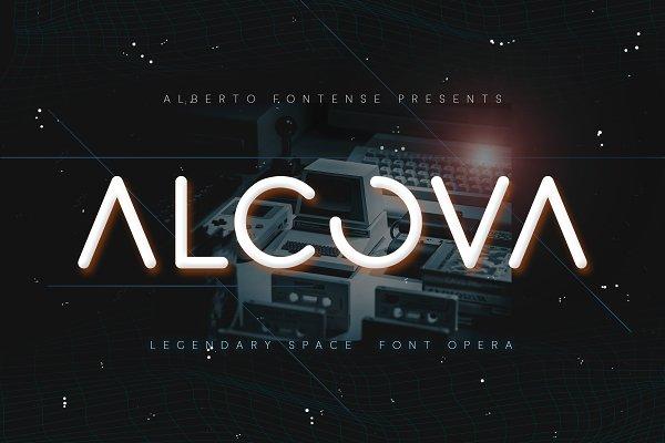 Alcova - Futuristic Cosmic Font