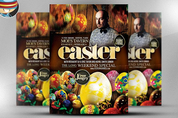 Easter Flyer Template Flyer Templates on Creative Market – Easter Flyer Template