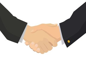 Handshake flat illustration