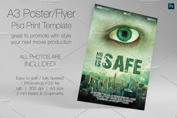 A3 - Movie Poster Print Template 5 - 407930 - Heroturko Download