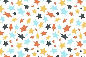 Colored flat stars pattern