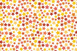 Red, yellow and orange stars pattern