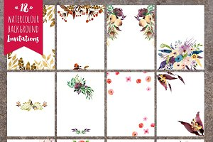 18 Invitation backgrounds