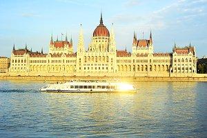 Hungarian Parliament at sunset