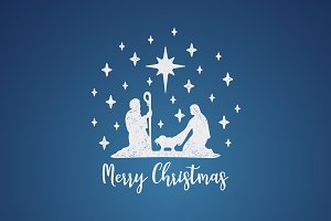 Birth of Christ. Mary and Joseph