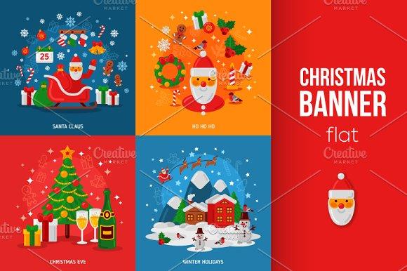 Christmas Flat Banners