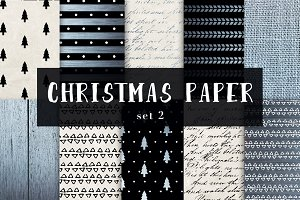 Christmas digital papers set 2
