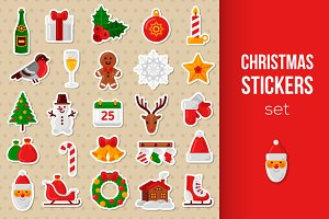 25 Christmas Stickers