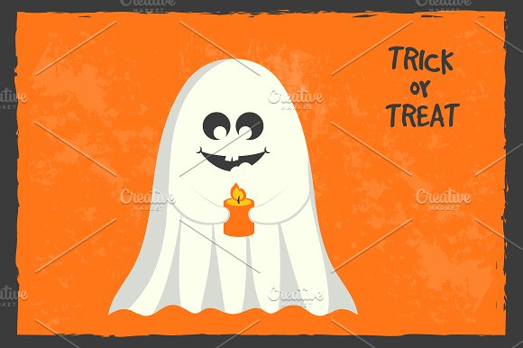Halloween greeting card in Illustrations