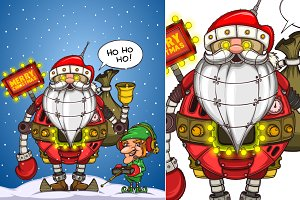 Robot Santa and Elf