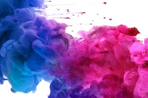 colors and ink in water.