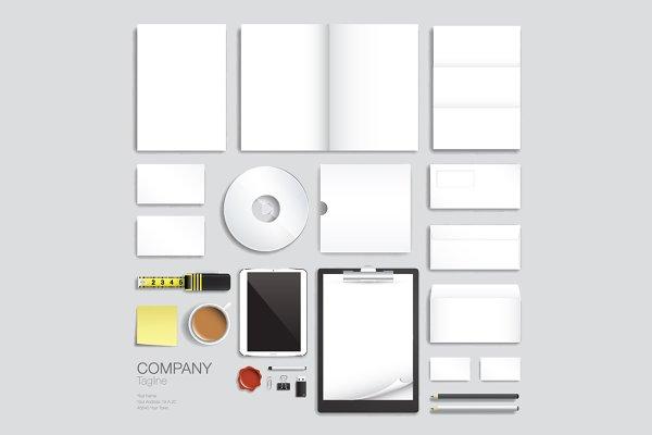 Corporate brand identity vector set