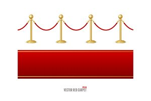 Red Event Carpet and Barrier Rope