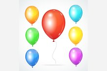 Color Glossy Rainbow Balloons