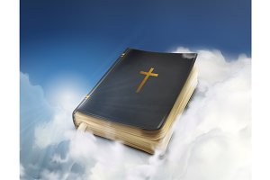 Bible in the clouds