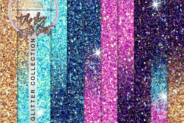 Outer Space Seamless Glitters