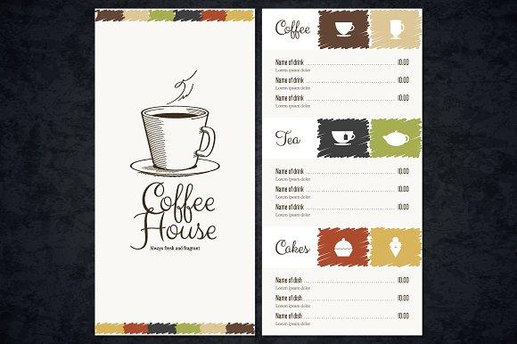 coffee price list template - coffee house menu template brochure templates creative