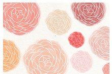 Ranunculus flower watercolor