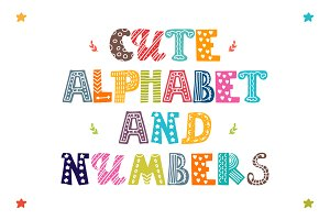 Cute Alphabet and numbers