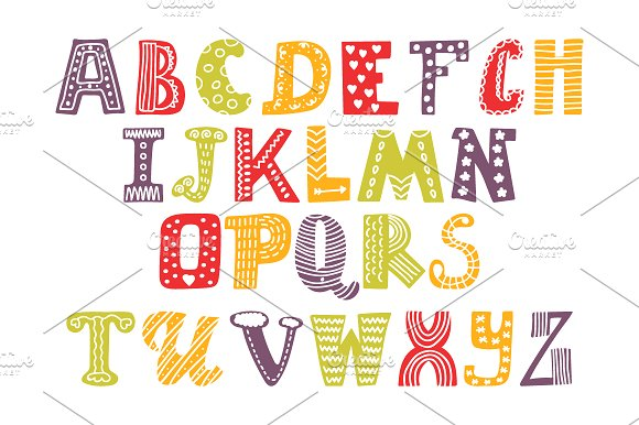 Cute alphabet and numbers illustrations creative market altavistaventures Image collections