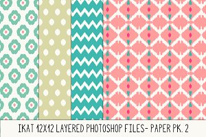 Layered Photoshop Ikat Pattern No. 2