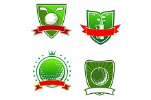 Golf emblems and symbols
