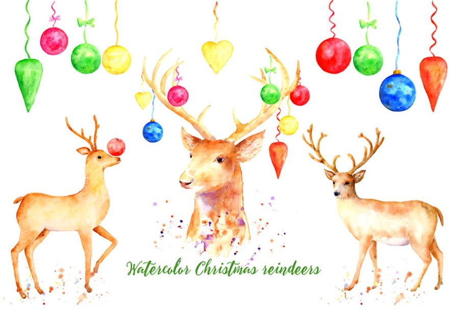 Christmas reindeer, decorative material, christmas decoration png | PNGEgg